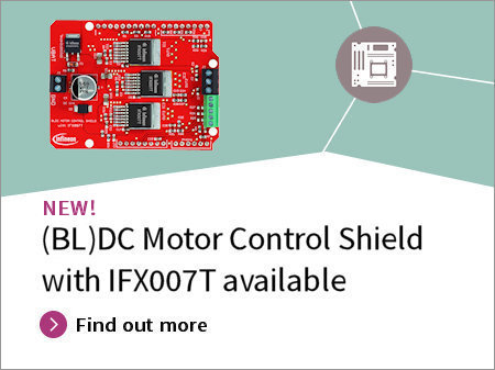 BLDC Motor Control Shield with IFX007T