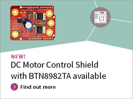 DC_Motor_Control_Shield with_Novalith IC_BTN8982TA_for_Arduino