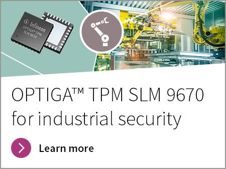 Infineon OPTIGA™ TPM SLM 9670 for industrial security