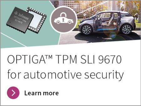 Infineon OPTIGA™ TPM SLI 9670 for Automotive Security