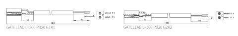 Gate Leads for Modules with Baseplate 20 mm
