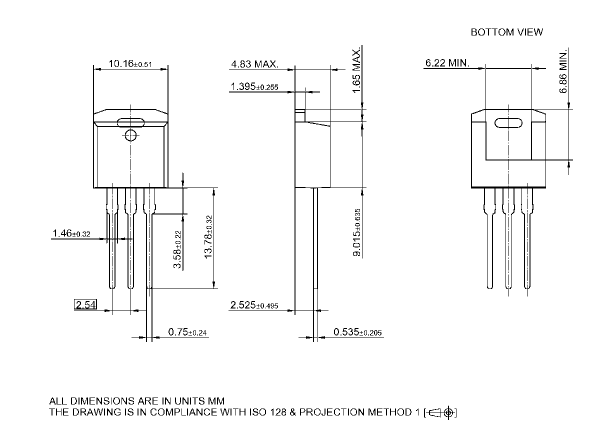 Pg To262 3 901 Infineon Technologies 54 Kb Png For An Integrated Circuit The Apparatus Receiving Package Dimensions