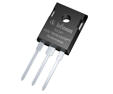 In a plug-and-play replacement the new TRENCHSTOP Performance IGBT from Infineon yields reduced losses of 7 percent at switching frequency of 8 kHz. An unmatched 11 percent lower total loss is delivered for switching frequency of 15 kHz.