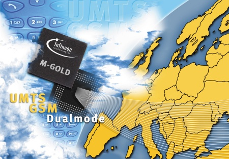 Third generation Mobile Radio UMTS: Infineon samples world`s first dual-mode UMTS/GSM single-chip baseband IC
