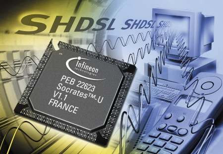 Infineon Extends Lead in SHDSL With the Industry?s First Low Power, Single-Chip Single-Channel SHDSL Transceiver