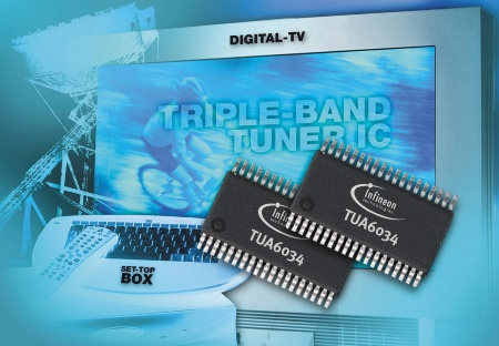 Infineon Introduces Industry?s First Single-Chip Triple-Band Tuner IC for Global Digital Terrestrial Broadcasting Standards