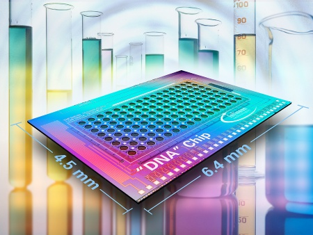 Infineon Technologies offers the world's first molecular test biochip with integrated evaluation electronics enabling significantly faster and cost-efficient clinical diagnosis.