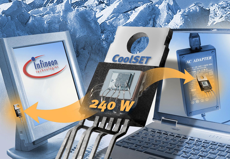インフィニオンがパワー段内蔵スイッチング電源ICの新製品を発表