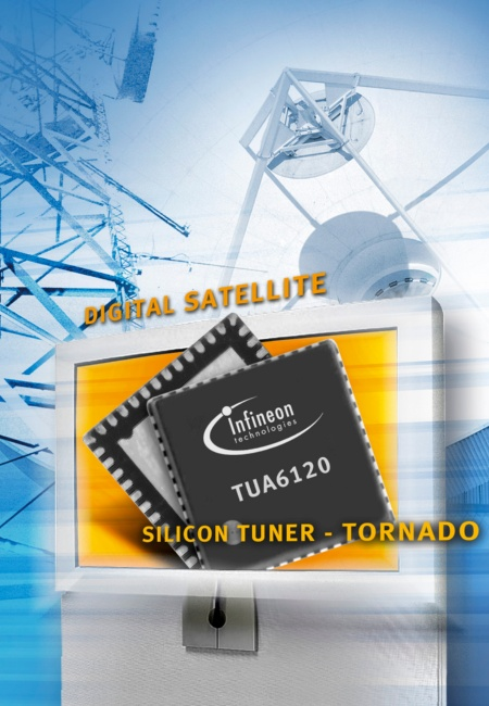 Infineon Introduces Industry's Highest Integrated Silicon Tuner for Global Digital Satellite Broadcasting Standards