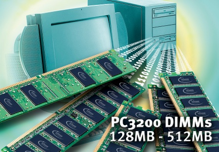 Infineon Announces Availability of DDR400 Components Supporting Intel High Performance Roadmap; New PC3200 DIMMs to Boost PC Main Memory Performance