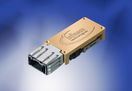 PAROLI®2-Receivers (pluggable). Infineon Technologies Parallel Optical Link with Low Voltage Differential Interface (LVDS) or with Differential Current Mode Logic (CML)