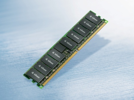 Infineon`s 4GB DDR2 registered DIMMs with 4.1mm module thickness and standard-size 30mm height are by around 40 thinner than competing solutions, hence outperforming JEDEC (Joint Electronic Device Engineering Council) requirements for stacked solutions.
