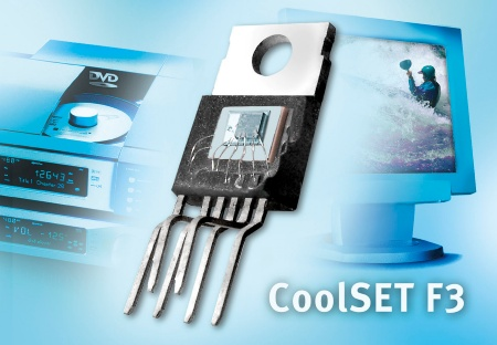 Depending on the application, the stand-by power consumption of Infineons new CoolSET F3 family is one third lower than that of competitors´ products. Typical applications are power supplies for DVD recorders, flat-panel LCD monitors, digital video cameras and adapters for notebooks and other portable devices.