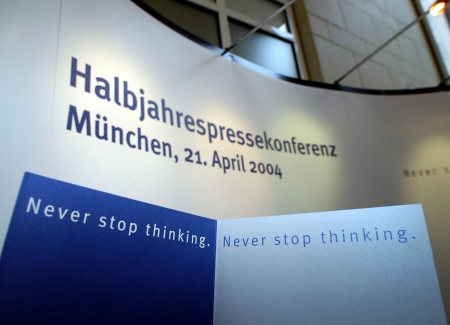 "Photo from the press conference in ""Haus der Bayerischen Wirtschaft"", Munich"