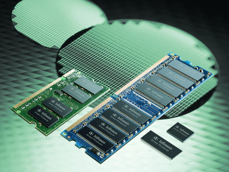 インフィニオンが環境に優しいDRAMデバイスとモジュールを供給開始
