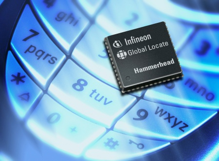 The Hammerhead chip is an extremely sensitive, low power single-chip Assisted GPS receiver specifically developped for use in mobile phones.