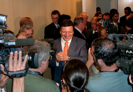 Portuguese Prime Minister Jose Manuel Durao Barroso at the opening on June 16, 2004