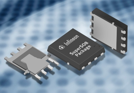 Infineon's 30 Volts products of the OptiMOS(r)2 power semiconductor family are  available in a specially developed high-performance SuperSO8 package that  saves up to 50 percent of the board space needed for system designs.
