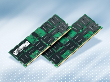 With a 4.1mm module thickness and 55mm height, the 8GB DDR2-400 Tall registered DIMMs are about 40 percent thinner than comparable solutions, hence outperforming customers` requirements for stacked solutions.