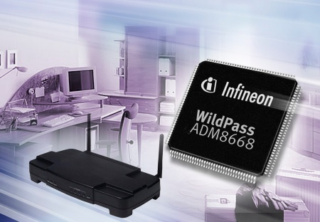 Featuring multiple on-chip interfaces including the USB 2.0 and Integrated Drive Electronics (IDE), WildPass can be seamlessly integrated into a wide variety of network applications such as VoIP access points, routers and gateways as well as media and print servers. It supports simultaneous Triple Play of voice, video and data for both LAN and WAN connections.