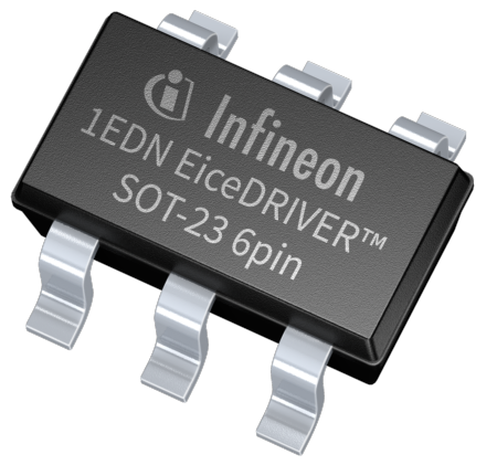 The 1EDN EiceDRIVER family of gate driver ICs is a perfect fit to drive MOSFETs, IGBTs as well as GaN power devices. Its pin-out and packages are fully compatible to the industry standard which eases the drop-in replacement for existing designs.