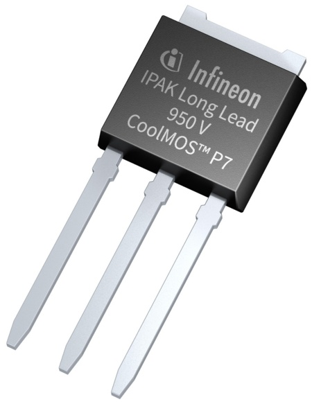 The 950 V CoolMOS P7 Superjunction MOSFET meets even the most rigorous design requirements: for lighting, smart meter, mobile charger, notebook adapter, AUX power supply and industrial SMPS applications.