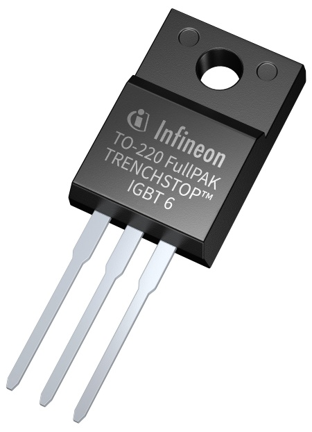 Key features of the 650 V TRENCHSTOP IGBT6 are very low VCE(sat) and Vf as well as a short-circuit protection capability of 3 μsec. It is optimized for switching frequencies ranging between 5 kHz and 30 kHz and suitable for applications that need to control the EMI noise efficiently.