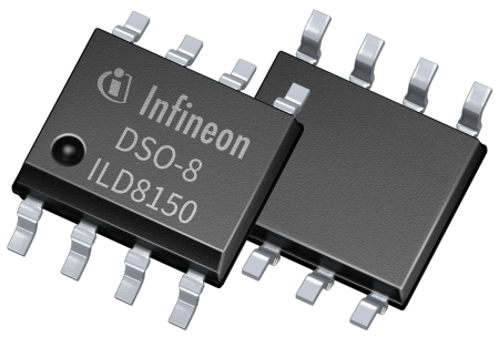 The ILD8150/E offers a deep dimming performance without flicker and prevents audible noise. A PWM input signal between 250 Hz and 20 kHz controls the LED current in analog dimming output mode from 100 to 12.5 percent and from 12.5 to 0.5 percent in hybrid dimming mode, with a flicker-free modulation frequency of 3.4 kHz.