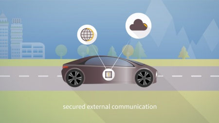 Infineon is the first semiconductor manufacturer to offer a Trusted Platform Module specifically for cars. It is suited to secure the vehicle's communication with the outside world – for example for software updates over the air.