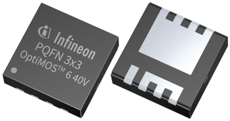 Infineon's its new OptiMOS™ 6 power MOSFET 40 V family is available in SuperSO8 and PQFN packages.