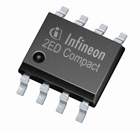 The new 650 V EiceDRIVER™ SOI half-bridge gate drivers provide leading negative transient voltage immunity, monolithic integration of a real bootstrap diode, and superior latch-up immunity. Both families, 2ED218x and 2ED210x, aim at MOSFET and IGBT based inverter applications.
