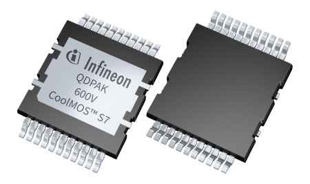 The newly launched 600 V CoolMOS™ S7 product family leads the way for power density and energy efficiency for applications where MOSFETs are switched at a low frequency.