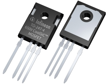 The CoolSiC MOSFET 650 V devices are rated from 27 mΩ to 107 mΩ. They are available in classic TO-247 3-pin as well as TO-247 4-pin packages, which allows for even lower switching losses. As for all previously launched CoolSiC MOSFET products, the new family of 650 V devices are based on Infineon's state-of-the-art trench semiconductor technology.