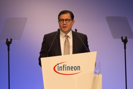 Dr. Sven Schneider, CFO Infineon Technologies AG, during his speech at the Annual General Meeting 2020.