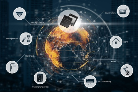 Infineon's OPTIGA™ Connect eSIM IoT solution based on leading-edge security hardware comes with pre-integrated carrier-agnostic cellular coverage in more than 200 countries and territories.