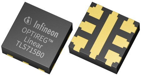 The linear voltage regulator OPTIREG™ TLS715B0NAV50 provides 5 V with a maximum output current capability of 150 mA.