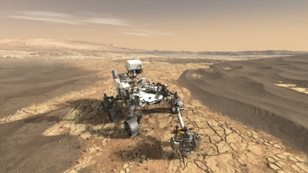 Flight computer, motor control, radar, and mission instrument suite: IR HiRel supplied thousands of mission-critical radiation-hardened components to ensure reliable operation of the Mars rover Perseverance in the harsh space environment (Courtesy NASA/JPL-Caltech)