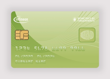 Biometric payment cards with integrated fingerprint sensor remain in the hands of the cardholder throughout the entire payment transaction, while eliminating the need for PIN entries or signatures to authorize even high-value payments.