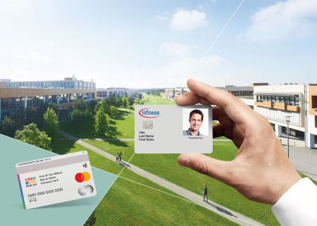 Infineon's new employee ID card at its headquarters are combining highly secured office building access with a flexible, contactless Mastercard payment function.