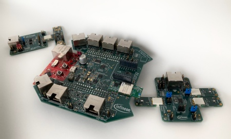 The XENSIV™ Predictive Maintenance Evaluation Kit is an extension for the XMC4700 XMC™ Relax Kit. It can be equipped with sensor satellite boards with a broad range of sensors for data collection and condition monitoring. The software provided fully supports the FreeRTOS kernel. AWS Cloud integration is completed by full AWS CloudFormation templates and a software application stack. A Graphic User Interface (GUI) and basic anomaly detection are also included. For connectivity Wi-Fi and Ethernet are integrated on-board, as well as a mikroBUS™ ClickBoard interface for extended connectivity.