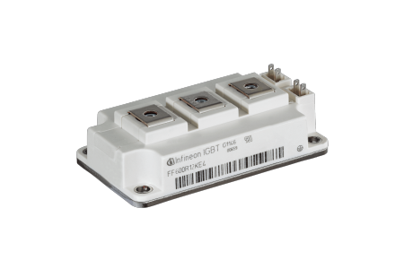 The 62 mm package corresponds to the industrial standard and can therefore easily be integrated into existing designs. When applied for drives, it delivers 20 percent more output power in the same footprint.