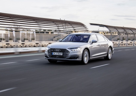 Various chips from Infineon are to thank for safe automated driving in the Audi A8: sensors, microcontrollers and power semiconductors (Image: Copyright Audi AG).