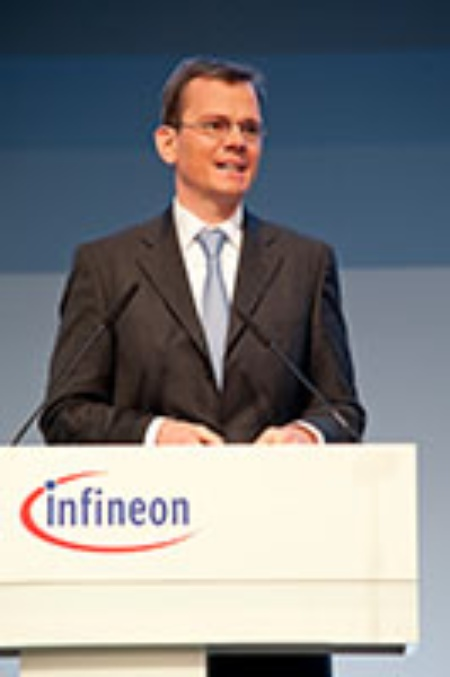 Dominik Asam, CFO Infineon Technologies AG, during his speech at the general meeting of Infineon Technologies AG 2013