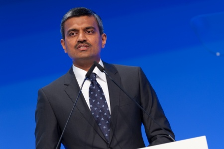 Arunjai Mittal, Member of the Management Board of the Infineon Technologies AG, responsible for Regions, Sales, Marketing, Strategy Development and M&A, at the Infineon Annual General Meeting 2012 in Munich, Germany, on March 8, 2012