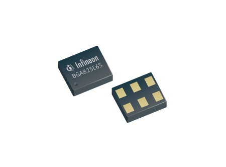 BGA825L6S is based on Infineon's B7HF SiGe technology which enables a cost-effective and ultra-small solution in a TSLP-6-3 package