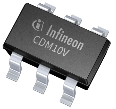 The compact and highly integrated LED lighting interface IC from Infineon Technologies AG allows designers to replace many of the discrete components used in conventional dimming schemes with a single device