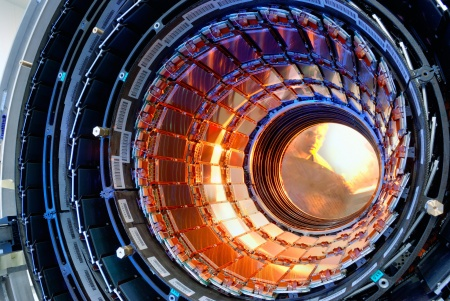 First half of CMS inner tracker barrel (Photo: CERN / Reprint free of charge)
