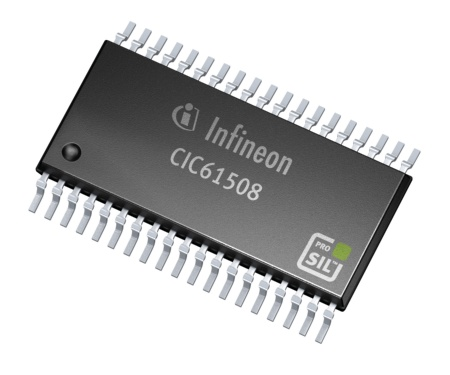 With its CIC61508, Infineon offers the industry's first signature watchdog device enabling ASIL-D approved safety applications