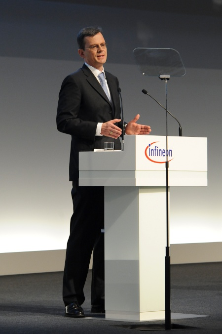 Dominik Asam, CFO Infineon Technologies AG, during his speech at the Annual General Meeting 2015.