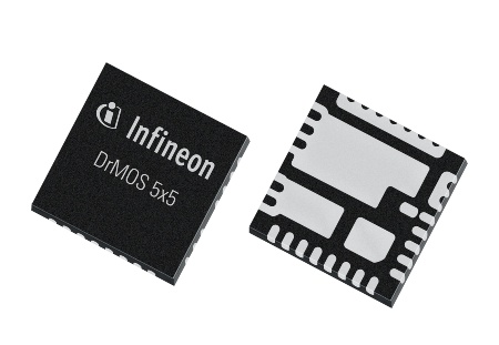 DrMOS 5x5 by Infineon is an integrated power stage for high performance DC/DC Voltage Regulation solutions, comprising Infineon's Driver and OptiMOS(tm) 5 25V MOSFET technologies in a 5.0x5.0x0.8mm3 package.